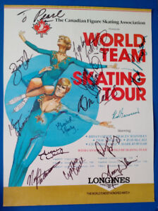 Canadian World Team figure skating poster with signatures