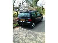 Renault Twingo 1995 black, sport, left-hand drive (not running)