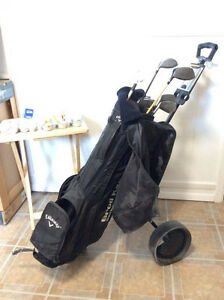 Men's Right had Golf Clubs with Cart