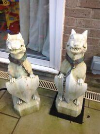 Garden Dogs Statues Dogs Of War