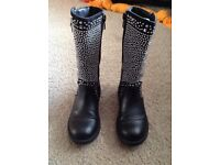 Lelli Kelly Black Boots Size 28