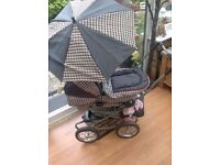 Silver Cross Dolls Pram , doll and Dolls clothes