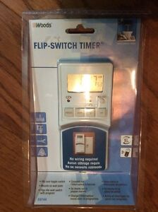 LIGHT SWITCH FLIPPER TIMER  (NO WIRING REQUIRED)