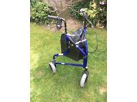 Aluminium Tri Wheel Walker