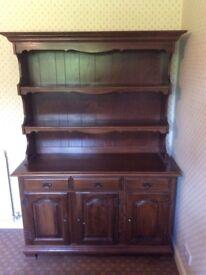 Dark wood side cupboard