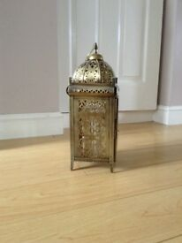 Gold lantern for candle
