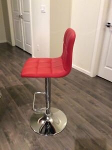 Two Red Bar Stools. 80$ for both