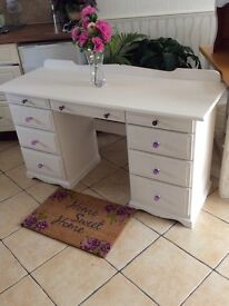 FAB ANNIE SLOAN PAINTED AND WAXED WITH PLUM CRYSTAL KNOBS FRESH