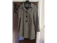 Black and white patterned winter coat