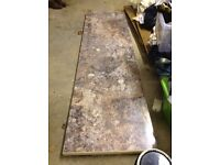 4 lengths of kitchen worktop £75 ONO