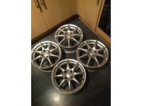 4x100 TSW ALLOY WHEELS 15 inch