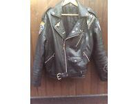 "Leather bikers ""Brando"" jacket VGC"