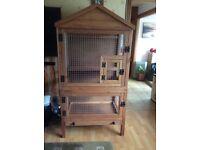 Handmade luxury indoor aviary for medium to large Bird