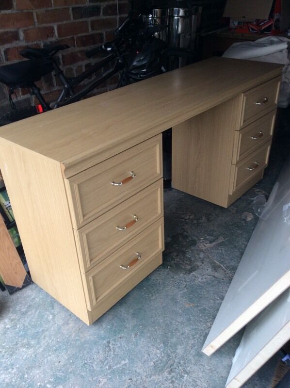 Desk with 6 drawers. Measures 152 cm l X 45 cm d X 75 cm hin Bournemouth, DorsetGumtree - Desk with 6 drawers. Measures 152 cm l X 45 cm d X 75 cm h.It has a small mark on the but is a strong sturdy desk