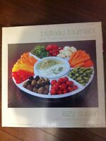 New! Lazy Susan with 5 ceramic dishes