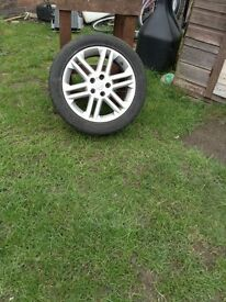 Good alloy wheels 4 of good tyres cheeper than 4new tyers