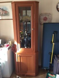 Tall Corner display cabinet