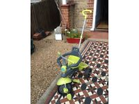 Smartrike trike, green and grey, good condition