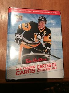 Tim Hortons hockey cards 2016-17 master set (175 cards/binder)
