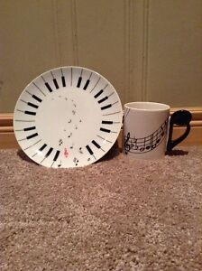 Musical Coffee mug and plate (matching) Kitchener / Waterloo Kitchener Area image 1
