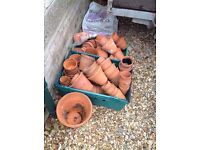 Antique collection of clay pots