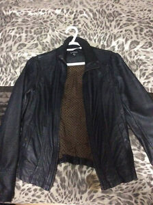 Leather dress jacket