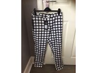 Women's ax Paris checked tailored trousers brand new with tags size 10