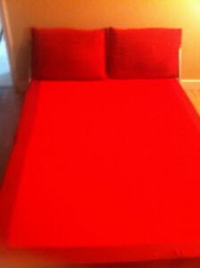Queen Size Red Futon / Bed