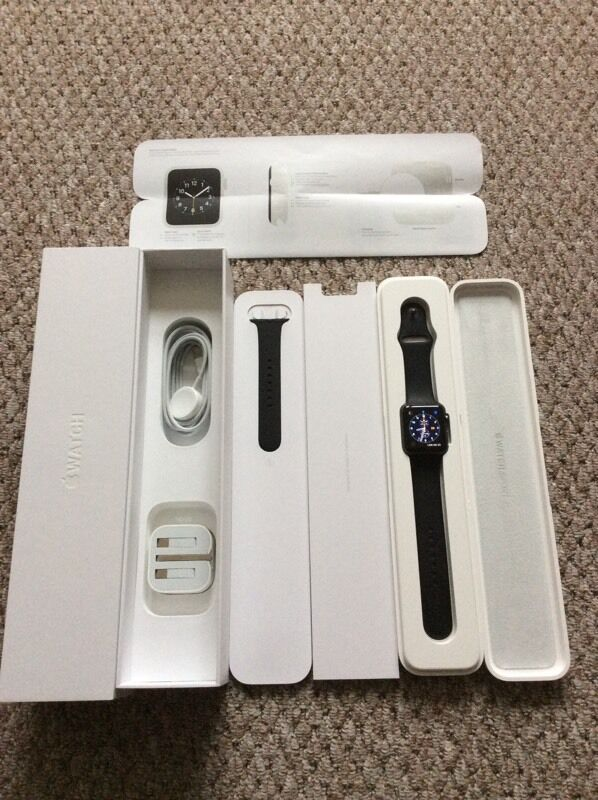 Apple Watch 42mm blackin Port Talbot, Neath Port TalbotGumtree - Apple Watch 42mm in black sport . Comes in original package with cable and U.K. Plug, and 2 size wrist bands small/medium and medium/large. It is immaculate condition