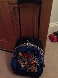 Hot wheels trolley/rucksack bag