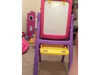 Double sided children easel