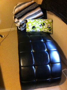Icon Curved Black Chaise - $200 OBO