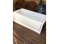 Twyford light cream bath with matching bath panel