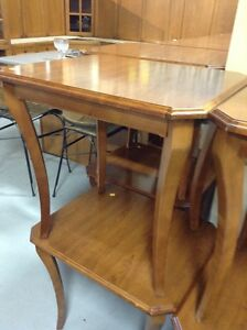 Wood end tables Fonthill ReStore