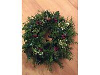 Christmas holly wreaths