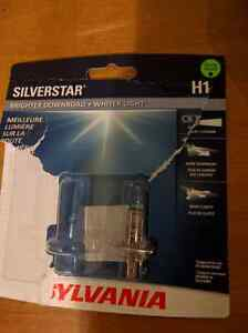 New in package Sylvania Silverstar Headlight H1