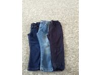 x3 boys jeans/trousers age 4