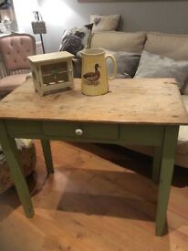Old pine top table