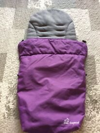 Purple fleece footmuff