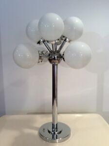 Vintage Chrome Space Age Lamp-Lampe Chrome Retro