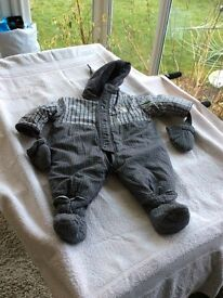 Baby winter snuggle suit