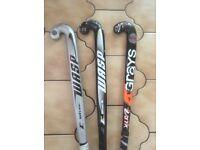 3 Hockey Sticks & Ball & Bag