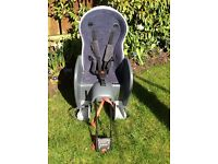 Child's bike seat, 5 point harness