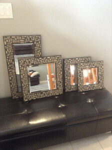 MIRRORS, SET OF 4; NEW.