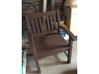 Lovely solid wooden garden chair