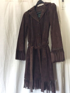 Boho Fringed Suede Jacket and other garments for sale