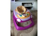 Chicco purple car baby walker