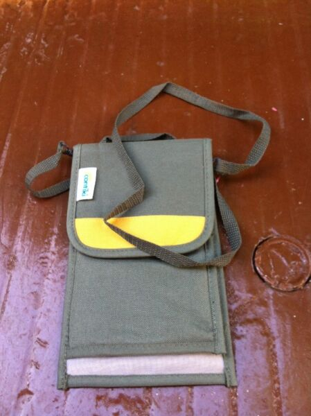 Continki passport holder. Length 29cm widhth 14cm. In good condition.