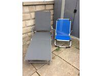 Garden Sun Lounger & Chair
