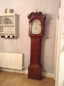 Beautiful working antique grandfather clock